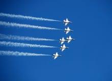 De straal van de vechter bij airshow Stock Foto's
