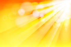 De straal van de zon Stock Foto