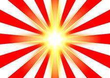 De straal van de zon stock illustratie