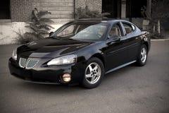 De straal Zwarte Sedan van Sporten Royalty-vrije Stock Foto's