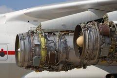 De straalmotor van vliegtuigen Stock Afbeelding