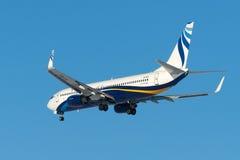 De straalvliegtuigen van Boeing B737 Stock Foto's
