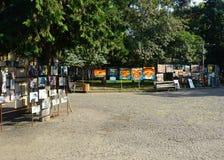 De Straat Art Saturday Market van Tbilisi stock foto's