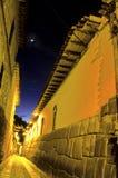 De straat Cusco, Peru van Incan Royalty-vrije Stock Afbeeldingen