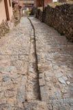 De straat de Peruviaanse Andes Cuzco Peru van de Chincherosstad Stock Fotografie