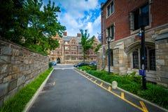 202 de Straat en de steeg van York, op de campus van Yale University, binnen Stock Afbeelding