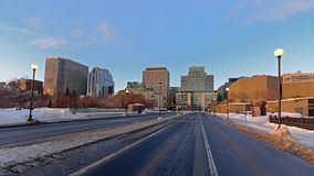 De straat en de post van de Mackenziekoning in Ottawa stock foto's