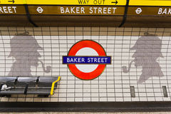 De Straat en Sherlock Holmes van Baker stock afbeeldingen