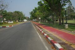 De straat in het park Royalty-vrije Stock Afbeelding
