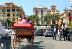 De straat Italië van Sorrento stock afbeelding