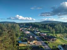 De straat in Nasviken royalty-vrije stock foto's