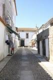 De straat in Valenca doet de Minho Stock Foto