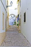 De straat van Albufeira Royalty-vrije Stock Afbeelding