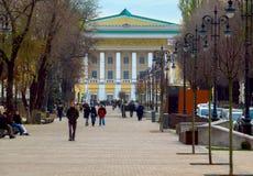 De straat van Alma Ata - Panfilov- Stock Foto