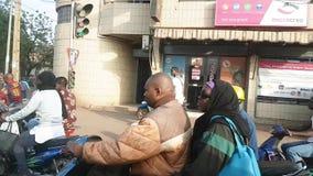 De straat van Bamakomali met stock footage