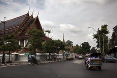 De straat van Bangkok dicht bij Royal Palace Stock Fotografie