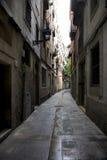 De straat van Barcelona Stock Afbeeldingen
