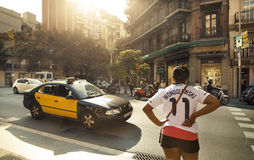 De straat van Barcelona royalty-vrije stock foto's