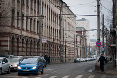 De straat van Boekarest Stock Afbeelding