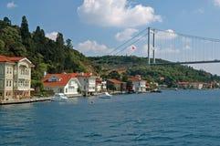 De Straat van Bosphorus in Istanboel, Turkije royalty-vrije stock foto
