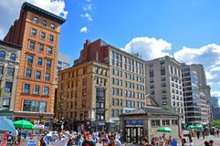 De Straat van Boston Tremont, Massachusetts, de V.S. royalty-vrije stock foto