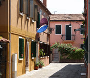 De Straat van Burano Royalty-vrije Stock Afbeelding