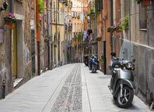 De straat van Cagliari stock foto