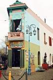 De Straat van Caminito in La Boca, Buenos Stock Foto's
