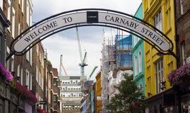 De straat van Carnaby Stock Foto's