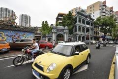 De straat van Chaozhou-stad, Guangzhou, China Stock Foto