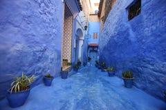 De straat van Chefchaouan Stock Fotografie