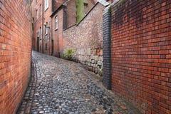 De straat van Cobbled stock foto's