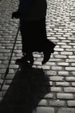 De straat van Cobbled stock foto