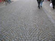 De straat van Cobbledstoned Stock Afbeelding