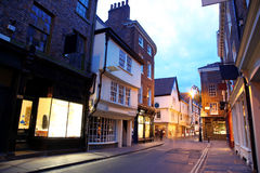 De straat van de avond in York Stock Fotografie