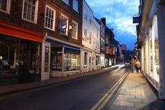 De straat van de avond in York Stock Foto