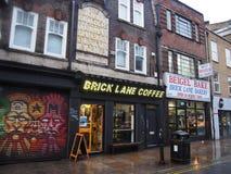 De straat van de baksteensteeg, Londen stock afbeelding