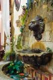 De Straat van de fontein Stock Foto's
