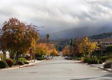 De Straat van de herfst Stock Foto's