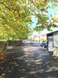 De Straat van de herfst Royalty-vrije Stock Foto