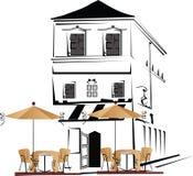 De straat van de koffie royalty-vrije illustratie
