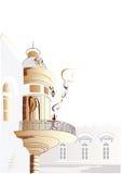 De straat van de koffie vector illustratie