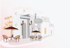 De straat van de koffie stock illustratie