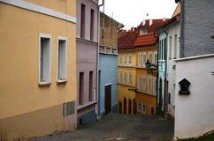De straat van de menings Tsjechische republiek Stock Fotografie
