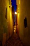 De straat van de nacht royalty-vrije stock foto's