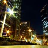 De Straat van de nacht Stock Foto