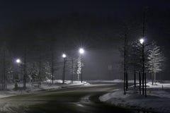 De straat van de nacht Stock Afbeeldingen