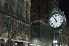 De straat van de nacht Stock Fotografie