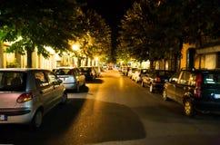 De straat van de nacht Stock Afbeelding