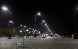 De straat van de nacht Royalty-vrije Stock Afbeeldingen